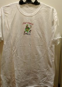 Front of shirt.