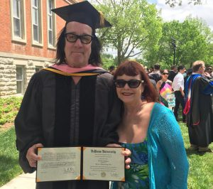 Dr. Todd and Michele Rundgren at the DePauw University commencement ceremony.